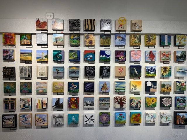 Announcing 6×6 Community Art Show Winners:  The show continues through December